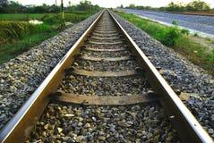 järnväg lantlig plats Arkivfoton