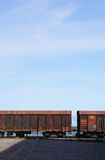 Järnväg lastbilar fotografering för bildbyråer