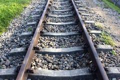 Järnväg linje Arkivfoto