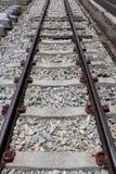 Järnväg linje för trans. Arkivfoton