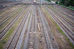Järnväg linjer Arkivbild