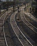 Järnväg linjer Arkivbilder