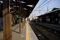 järnväg liten station Royaltyfri Fotografi