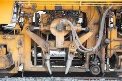 Järnväg maskin för underhåll Fotografering för Bildbyråer