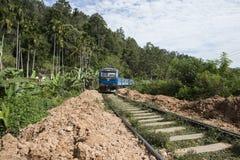 Järnväg med drevspring Ella Sri Lanka Royaltyfri Foto