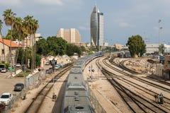 Järnväg museum i Haifa Arkivbilder