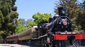 Järnväg museum Quinta Normal för gammalt drev Arkivbild