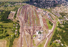 Järnväg nätverk arkivbilder