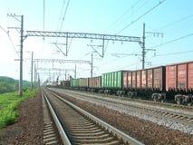 Järnväg och drev Royaltyfri Bild