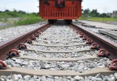Järnväg- och drevstation Royaltyfri Fotografi
