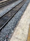 Järnväg och sten Fotografering för Bildbyråer