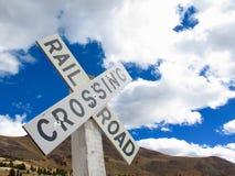 Järnväg på berget Arkivbilder