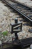 Järnväg på station Royaltyfria Bilder