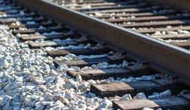 Järnväg på vaggar Arkivbilder