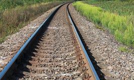 Järnväg perspektiv Arkivbilder
