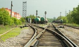 Järnväg pil Arkivbilder