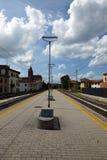 Järnväg plattform arkivfoton