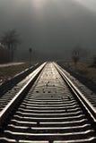 järnväg recedingspår Arkivbilder