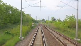 Järnväg resa POV stock video