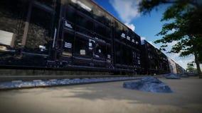 Järnväg sändande transportanimeringbakgrund royaltyfri illustrationer