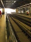 Järnväg sammanlänkning för flygplats, Bangkok, Thailand Arkivfoton