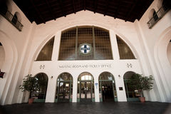 järnväg san santa station för byggnadsdiego fe Arkivfoton