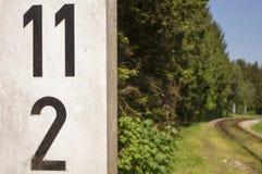Järnväg sidingsdetaljer 012-130509 Royaltyfria Bilder
