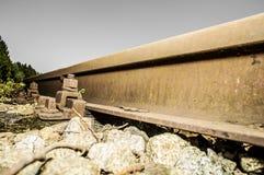 Järnväg sidingsdetaljer 015-130509 Fotografering för Bildbyråer