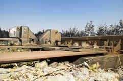 Järnväg sidingsdetaljer 016-130509 Royaltyfria Foton