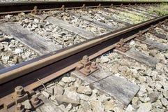 Järnväg sidingsdetaljer  Arkivbild
