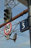 Järnväg signaler Arkivbild