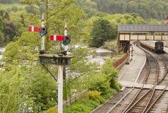järnväg signalering royaltyfri foto