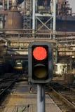 järnväg signalering arkivfoto