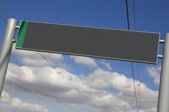 Järnväg signpost utan text Royaltyfri Foto