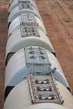 järnväg silos Royaltyfri Foto