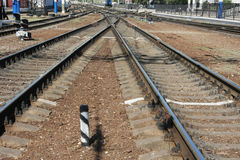 Järnväg sleepers Royaltyfria Bilder