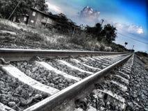 Järnväg som drömmer Arkivbild