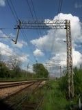 järnväg spår fotografering för bildbyråer
