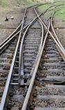 järnväg spår Arkivfoto
