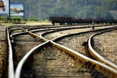 Järnväg spår Royaltyfri Foto