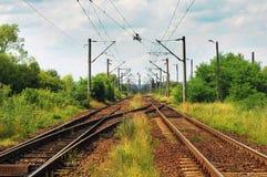 Järnväg spår Arkivfoton