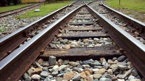 järnväg spåriner tappning Arkivfoto
