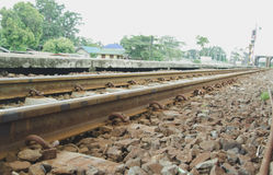 Järnväg stål Fotografering för Bildbyråer