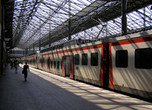 järnväg station Arkivbilder