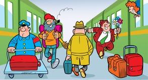 järnväg station vektor illustrationer