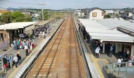 järnväg station Royaltyfria Foton