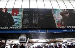Järnväg station i Rome, Italien royaltyfri fotografi
