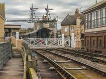 Järnväg station på Wandsford Cambridgshire engelska Arkivbilder