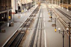 järnväg station Top beskådar Royaltyfri Fotografi