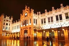 järnväg station valencia Royaltyfri Fotografi